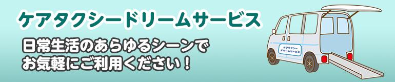 ケアタクシードリームサービス!日常生活のあらゆるシーンでお気軽にご利用ください!